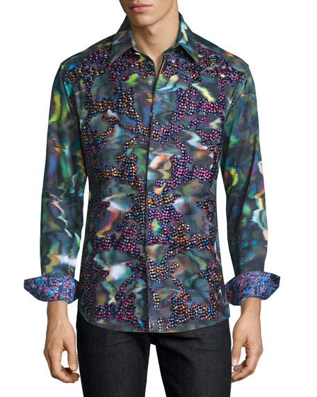 Robert graham limited edition embroidered sport shirt for Where are robert graham shirts made
