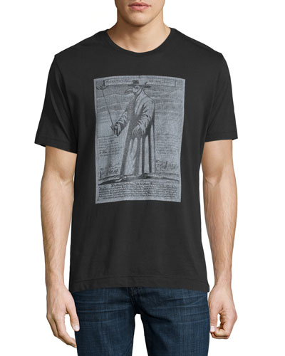 The Plague Doctor Graphic T-Shirt, Black
