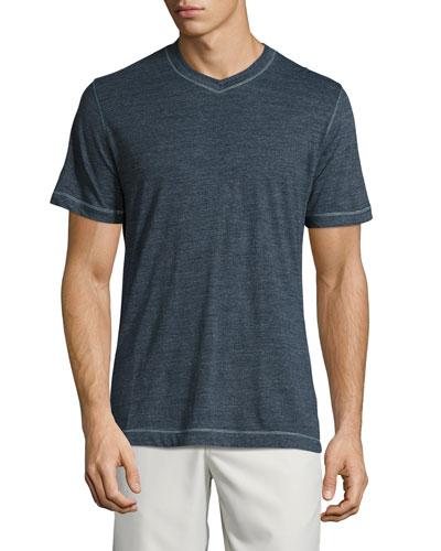 Nomads V-Neck T-Shirt, Dark Blue