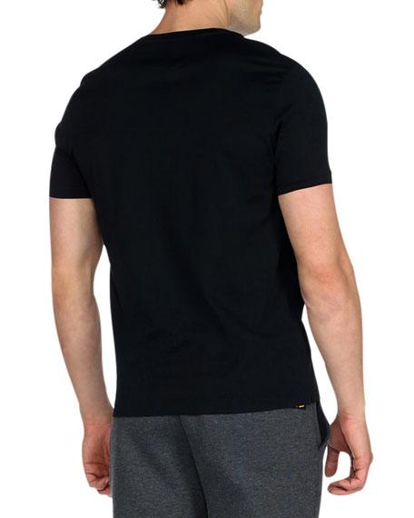 Sequined Monster Eyes Short-Sleeve T-Shirt, Black