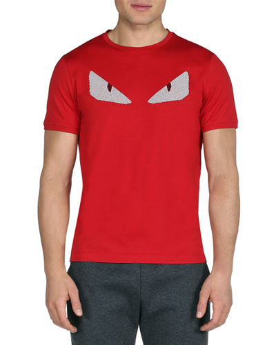 Crystal Monster Eyes Short-Sleeve Tee, Red