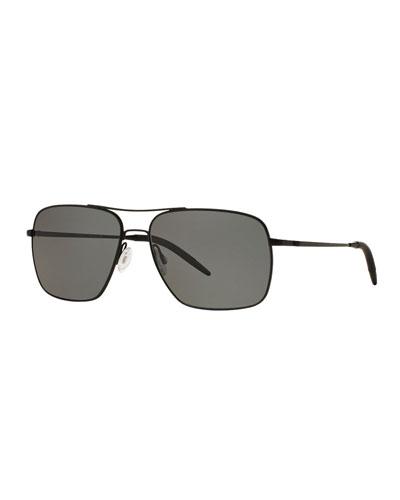 Clifton 58 Polarized Sunglasses, Black
