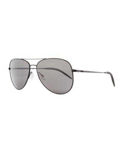 Kannon 59 Polarized Sunglasses, Black
