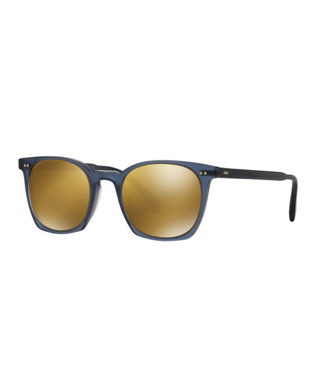 Oliver Peoples L.A. Coen 49 Acetate Sunglasses, Blue