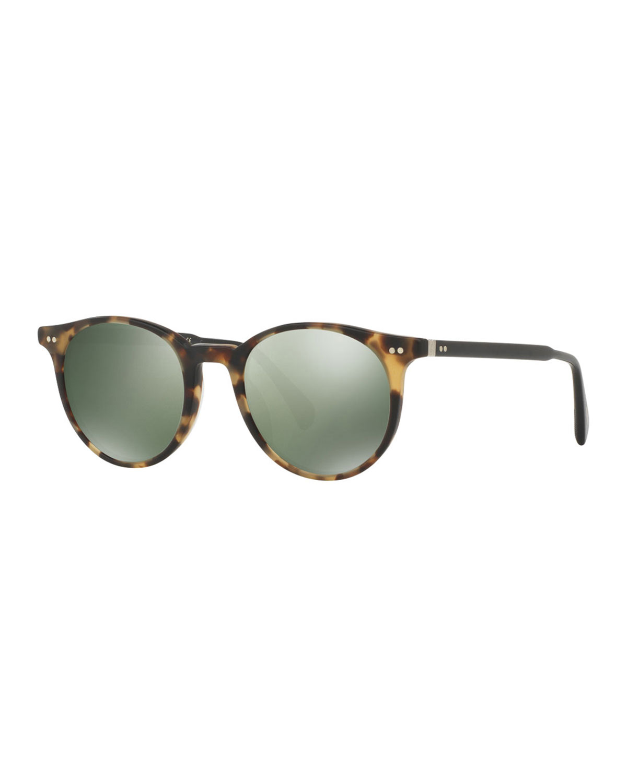 deeb5170507 Oliver Peoples Delray Sun 48 Round Sunglasses