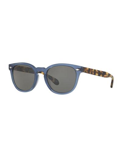 Sheldrake Plus Plastic Sunglasses, Blue