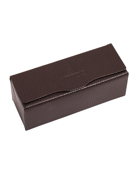 Oliver Peoples OP 2 Leather Eyewear Frame Case,