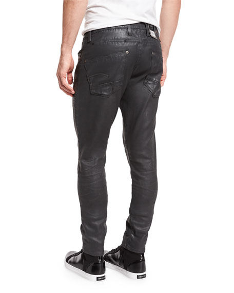 Revend Super-Slim Coated Jeans, Cobbler Restored 93