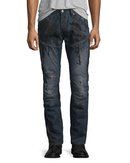 G-Star 5620 3D Super-Slim Jeans, Dark Aged Splatter
