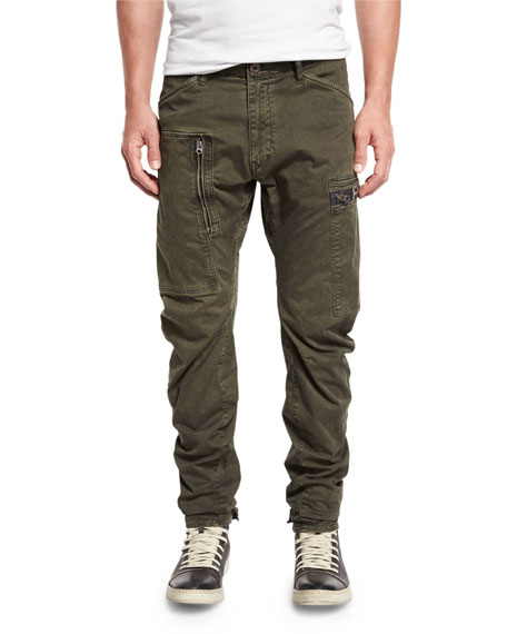 G-Star Power 3D Tapered-Cuff Pants, Raven