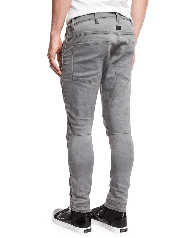 aee06e64b6195d G-Star 5620 3D Super-Slim Ankle-Zip Jeans, Aged Cobler | Neiman Marcus