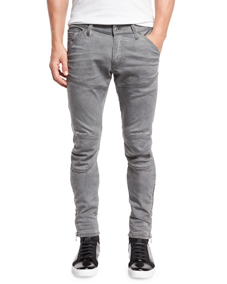 G-Star 5620 3D Super-Slim Ankle-Zip Jeans, Aged Cobler