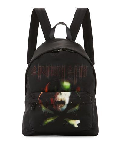 Men's Amy Skull Nylon Backpack