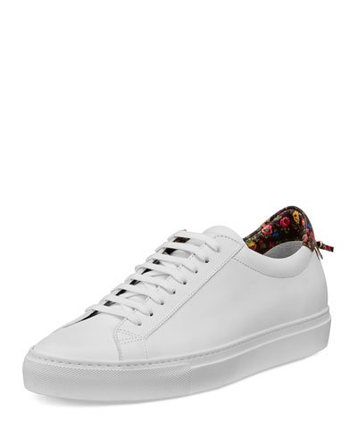 Urban Low-Top Sneaker W/Floral-Contrast, White