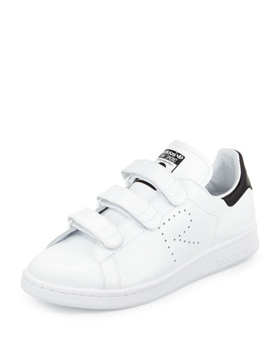 Stan Smith Triple-Strap Sneaker, White/Black