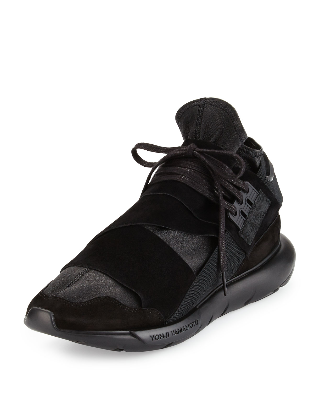 c6ef41cafa128 Y-3 Qasa Men s High-Top Leather Trainer Sneakers