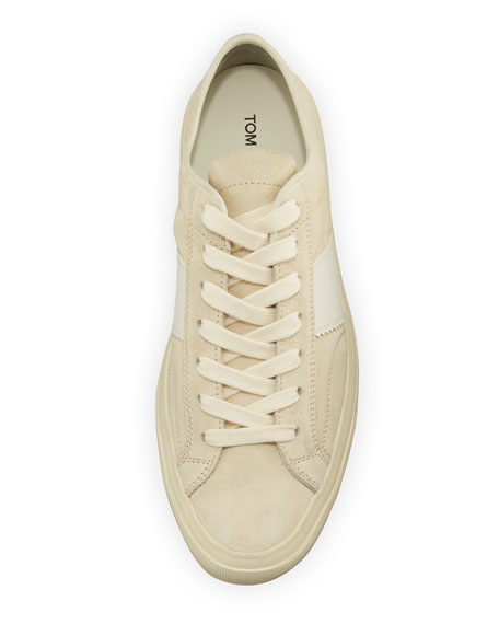 Cambridge Suede Striped Low-Top Sneaker
