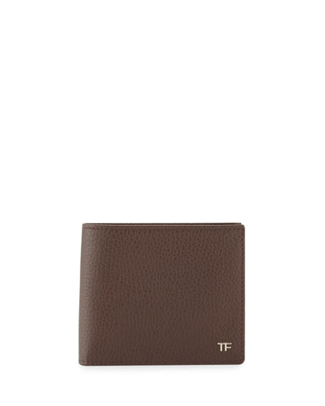 TOM FORD Men's Leather Bi-Fold Wallet, Chocolate