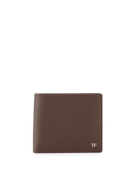 Men's Leather Bi-Fold Wallet, Chocolate