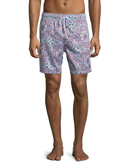 Retromarine Cordoba Multi-Print Retro Swim Trunks, Multi
