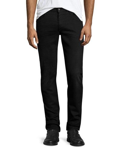 Fit 2 Slim-Leg Denim Jeans, Worn Black