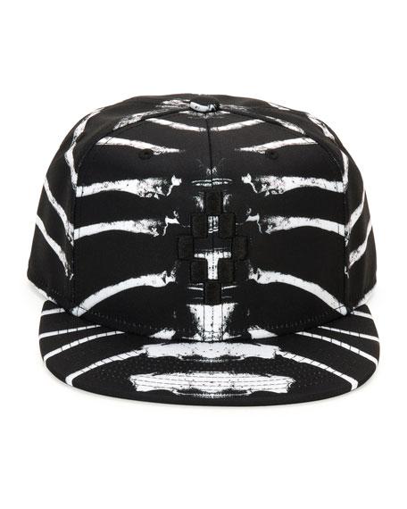 Marcelo Burlon Starter Villarrica Bone-Print Cap, Black/White