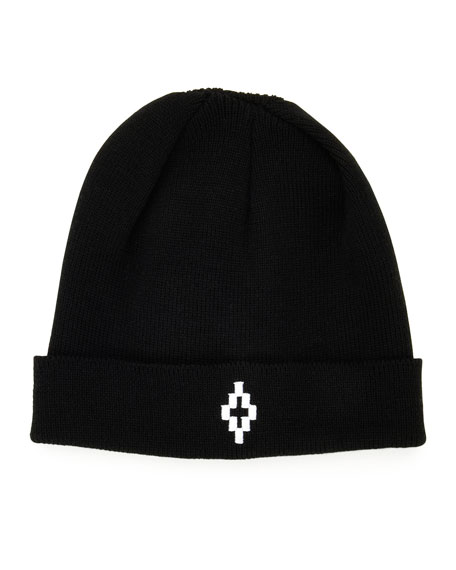 Cruz Logo-Front Beanie, Black/White