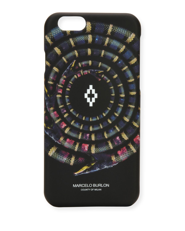 Marcelo Burlon Colorados Snake Graphic Iphone 6 Case Black Neiman