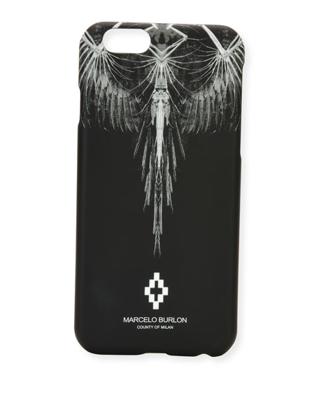 Marcelo Burlon Antofalla Feather iPhone 6 Case, Black