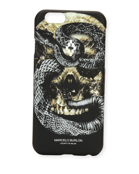 Bayo Skull & Snake iPhone® 6 Case, Black