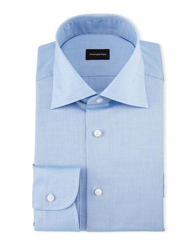 Solid Cotton Dress Shirt, Chambray