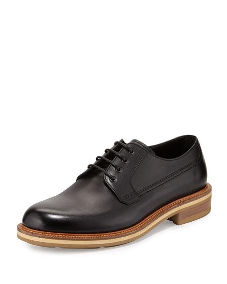 Ermenegildo Zegna Leather Derby Shoe, Black