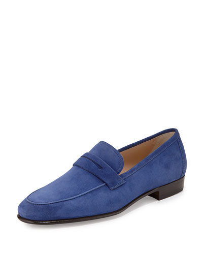 Suede Penny Loafer, Royal