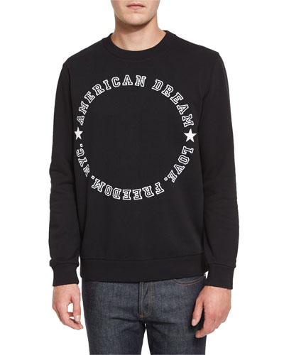 American Dream Varsity Text Sweatshirt, Black