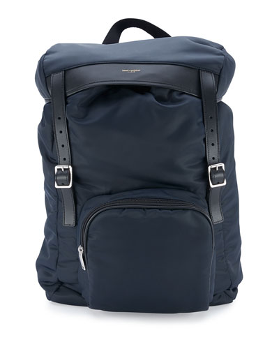 Nylon Hunting Backpack w/Leather Trim