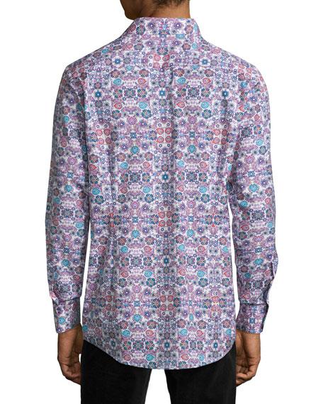 Floral-Print Sport Shirt, Multi