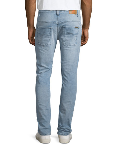 Thin Finn Broken Pale Slim Jeans, Light Blue