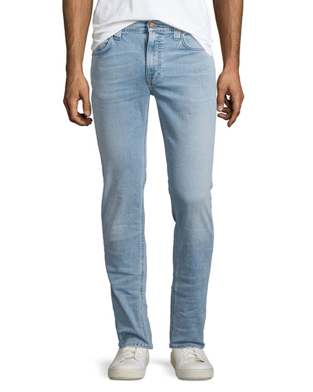 Nudie Thin Finn Broken Pale Slim Jeans, Light