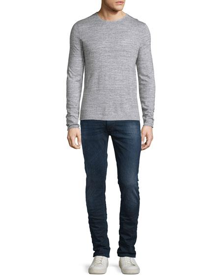 Lean Dean Deep Sparkle Skinny-Leg Jeans, Dark Blue