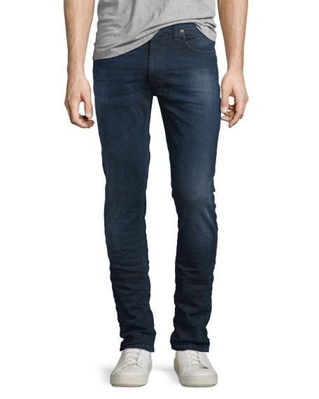 Nudie Lean Dean Deep Sparkle Skinny-Leg Jeans, Dark