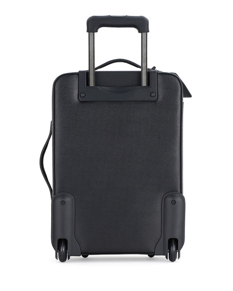 Fendi Monster Eyes Canvas & Leather Trolley Suitcase, Black