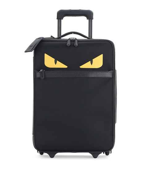 Fendi Monster Eyes Canvas & Leather Trolley Suitcase,