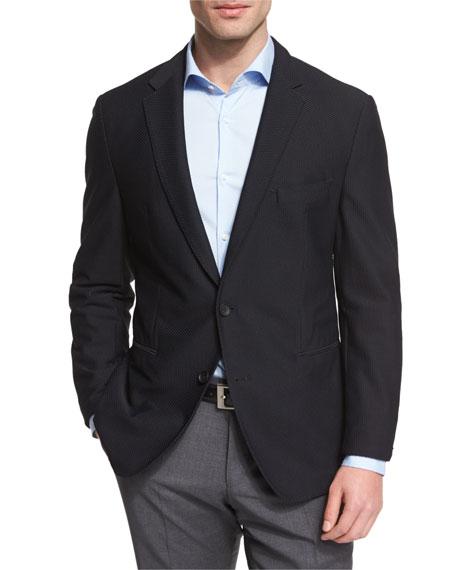 Boss Hugo Boss Norwin Waffle-Stitch Slim Sport Coat, Black
