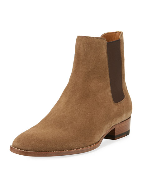 Saint Laurent Eddie Suede Chelsea Boot, Gray