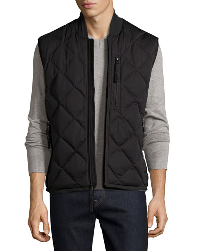 Systems Quilted Vest, Jet Black