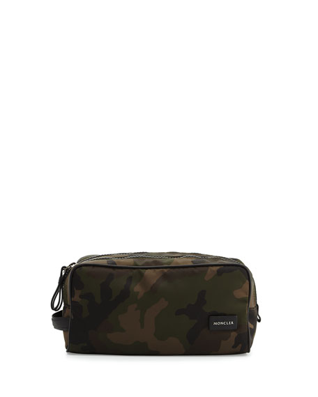 Moncler Camouflage Toiletry Case, Green
