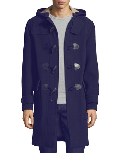 Brockhurst Long Duffle Coat, Navy