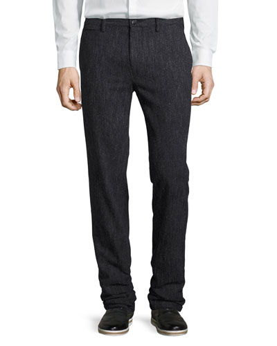 Donegal Soft Tailoring Pants, Charcoal Blue