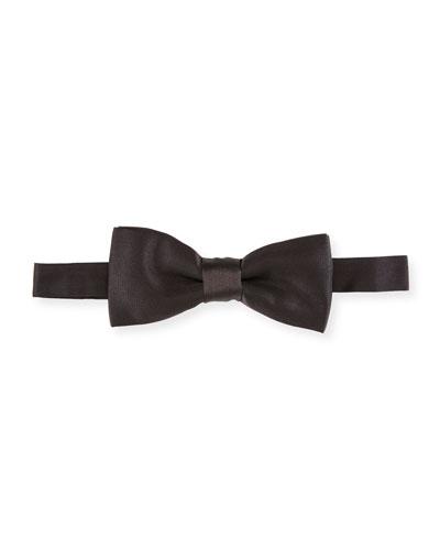 Satin Bow Tie, Black