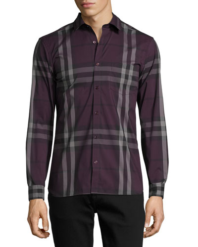 Nelson Check Stretch-Cotton Shirt